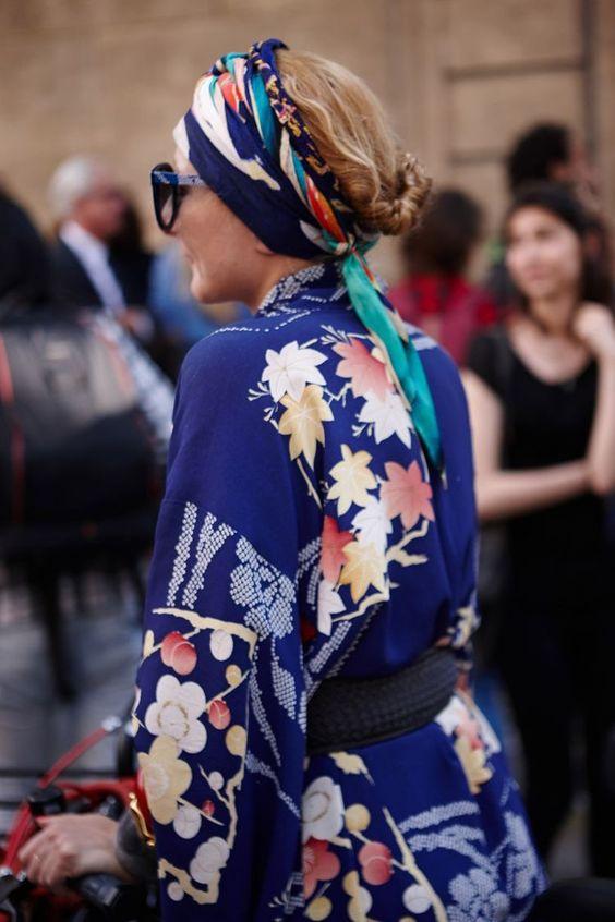 街拍中的发带