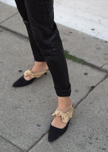 法式小优雅的the row一脚蹬单鞋