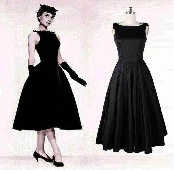 奥黛丽赫本的小黑裙