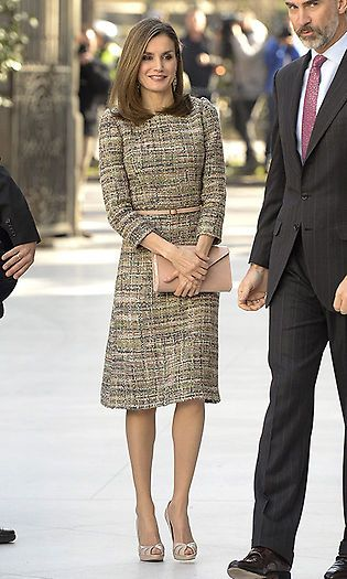 Queen Letizia小香风连衣裙