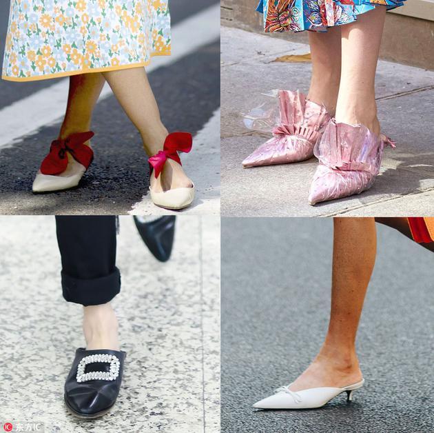 一脚蹬鞋街拍