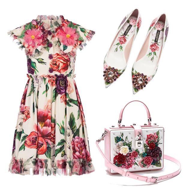 Dolce&Gabbana玫瑰印花系列