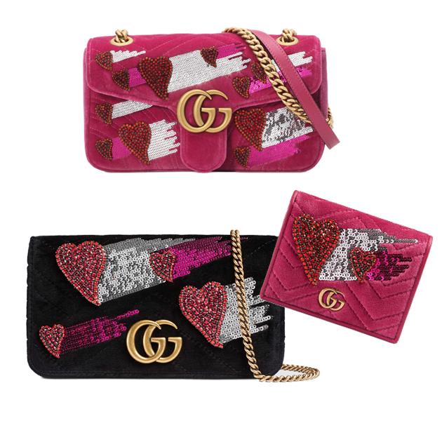 Gucci丝绒包包