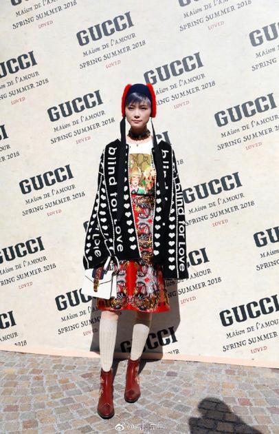 李宇春亮相Gucci