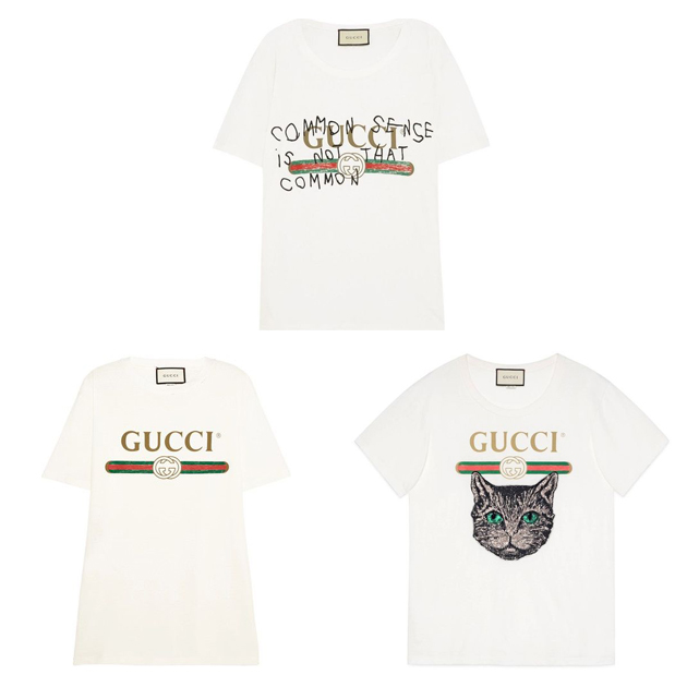 Gucci logo字母T恤