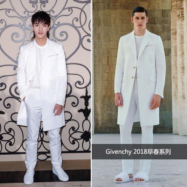 许魏洲亮相Givenchy 2018春夏秀场