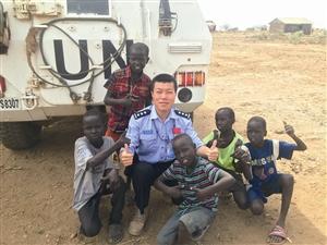 赴南苏丹维和4月后宁波警察沈盛彪回国讲述维和经历