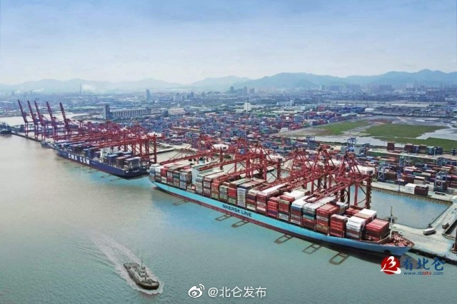 宁波舟山港运输生产迎来7月红 货物累计同比增长7%