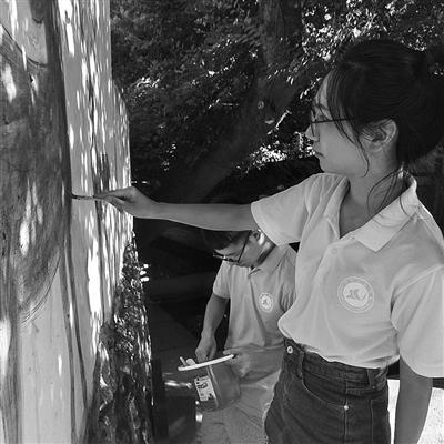 宁波工程学院建筑学专业的同学给村里设计墙绘