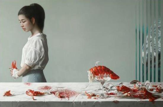 张钰展出作品《龙虾》