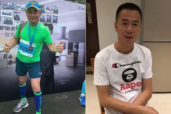 救人者沈华(左)和妹夫李永江