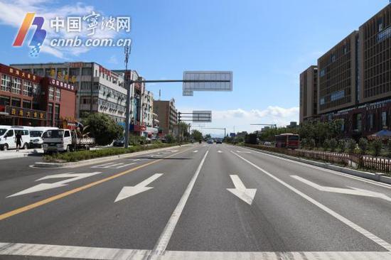 图为全面修复后的雅戈尔大道。