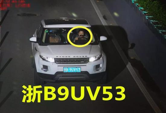 违法车辆:浙B9UV53
