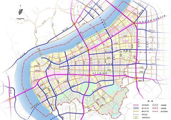 滨江道路规划图