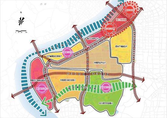 滨江用地布局结构图
