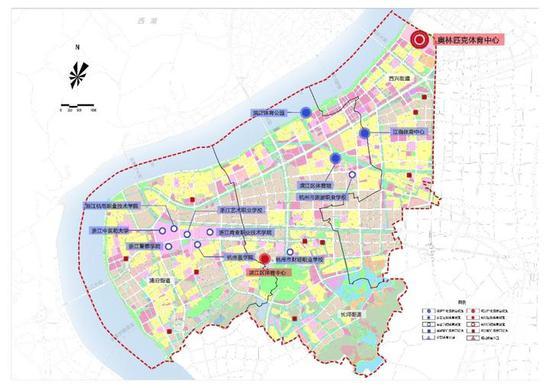 滨江体育设施规划图