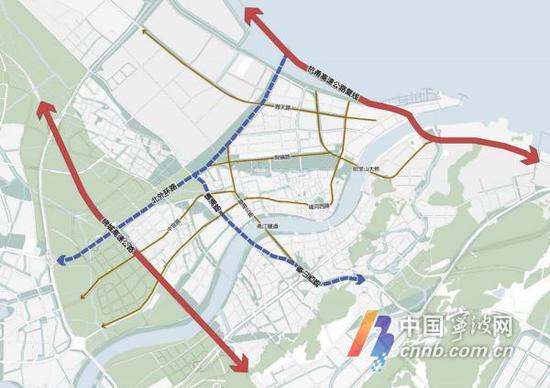 调整区内路网结构,合理路网布局——