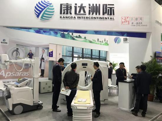 参展中的康达洲际,其产品均产自宁波梅山