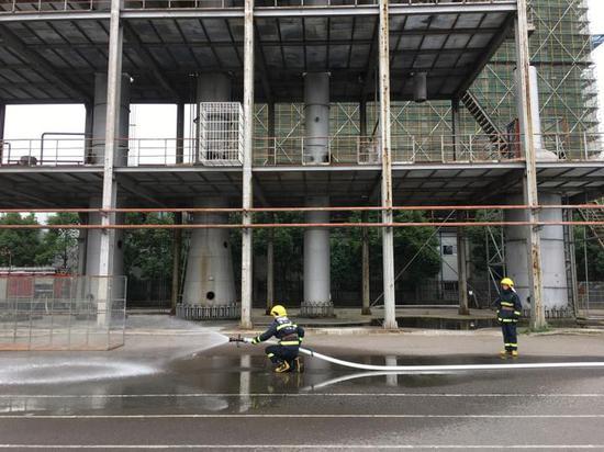 多层建筑火灾扑救模拟展示