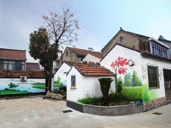 图为前进村彩绘。