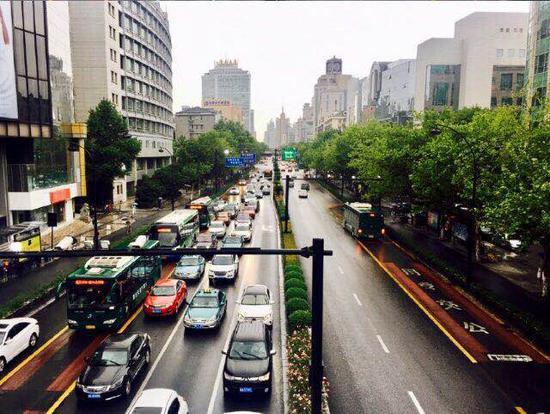 杭州某路段。钱晨菲 摄