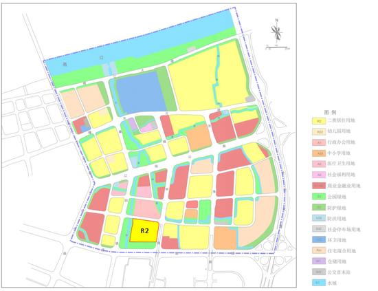 (江南公路地段(JD08)控制性详细规划局部调整后用地规划图)