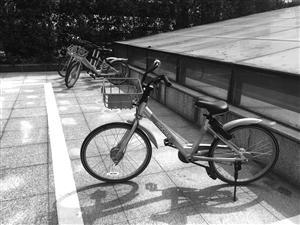 才记者在铁路宁波站北广场看到,共享单车整齐地停放在划定区域内
