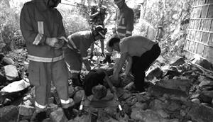 救援现场视频截图