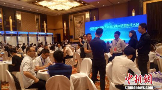 国际人才智力项目洽谈对接活动在浙江宁波举行。 张煜欢 摄