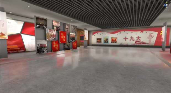 图为设备内展厅入口视觉图