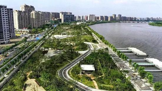 宁波最大滨江体育公园正式建成 有1600米长的樱花大道