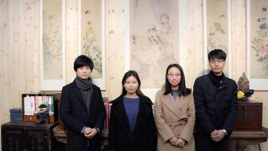 左起分别是林雷杰、朱佳文、琚银萍、俞佳伟