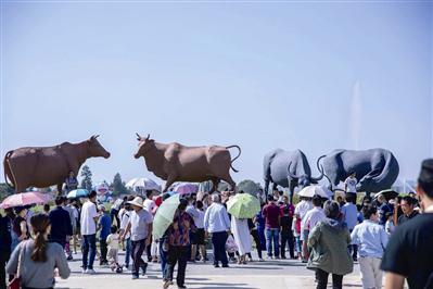 """2万多名游客涌向""""达人村"""""""
