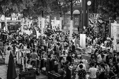 去年天一广场夏日市集资料图片