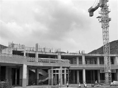 正在建设中的象山喜来登度假酒店项目。 象山县住建局供图