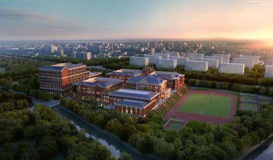 ▲蓝青小学新校区效果图
