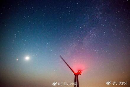 宁波宁海东海云顶美景 白天与晚上都别具风味