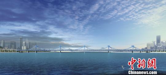 大桥效果图。杭州交通 供图
