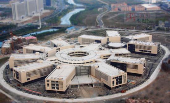建设中的康达医疗健康产业园