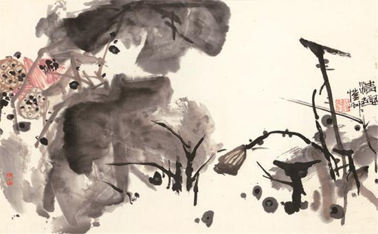 图为潘公凯的《情趣》。宁波美术馆供图