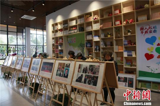图为宁波爱心公园展厅 周松 摄
