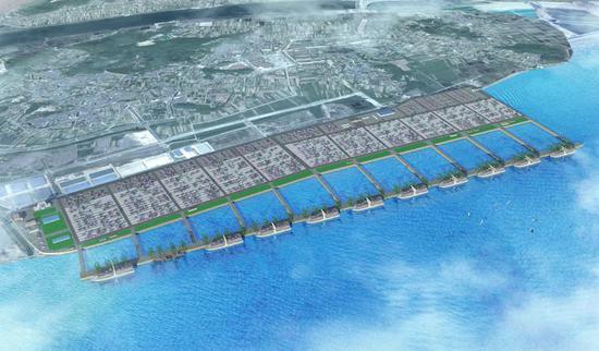 梅山港区集装箱码头效果图