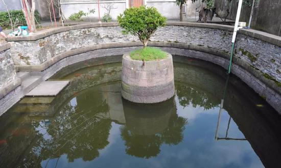 ▲成房院内的荷花池