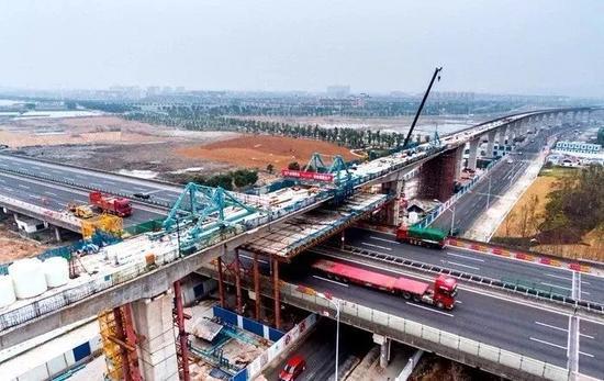 ▲轨道4号线慈江以南新建高架段
