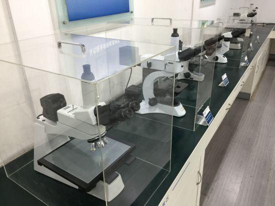 图为永新光学显微镜产品。 林波 摄