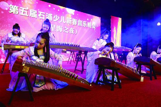 象山举办石浦少儿新春音乐会 一千多渔区群众到场