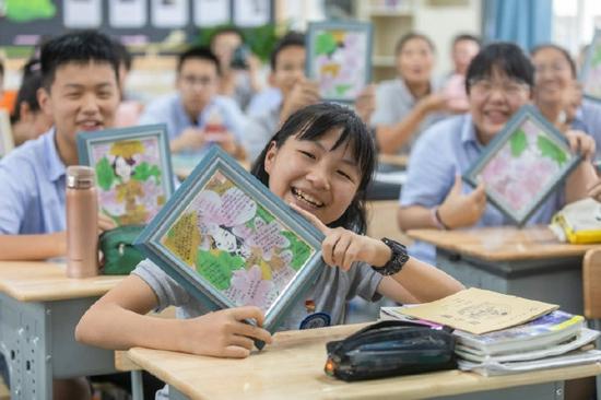 教师节将至 海曙一学校老师收到一份别出心裁的礼物