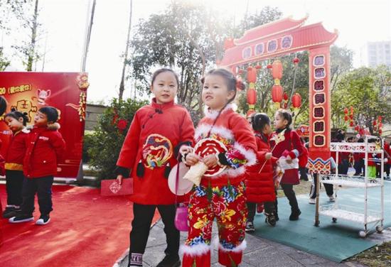 象山海韵幼儿园举办逛庙会活动 营造热闹的过年氛围