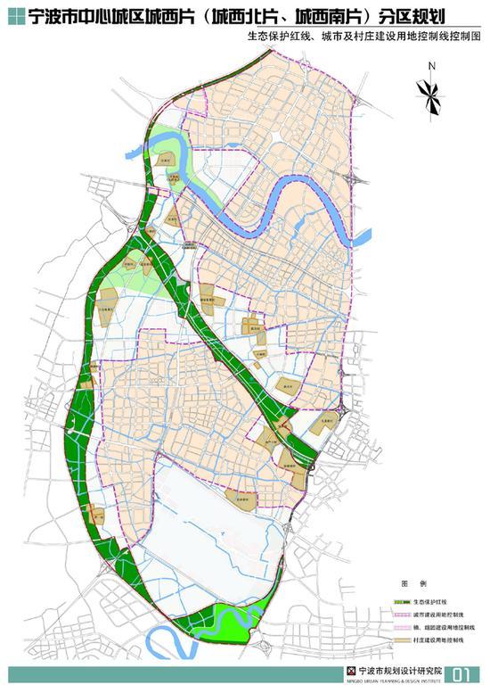 宁波城西规划公示 城西地区将打造未来城市副中心