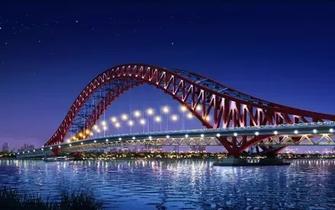 世界之最的梅山春晓大桥主梁昨日合龙